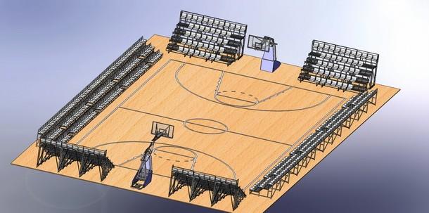 Сборка баскетбольной площадки 1