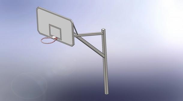 Сборка стойки баскетбольной
