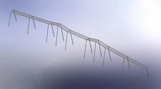 Удлиненная гимнастическая лестница