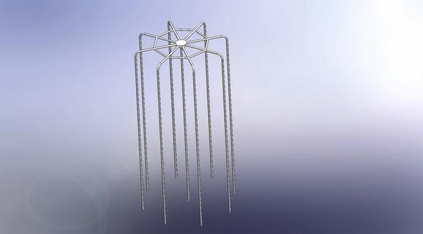 Цилиндр вертикальных шестов