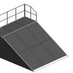 Разгонная горка с платформой прямая-М2
