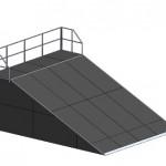 Разгонная горка с платформой прямая-М3 H=2400