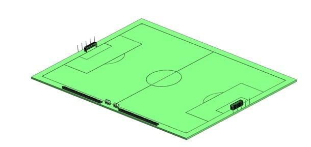 Сборка футбольного поля