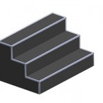 Ступени (Каскад, Грайндюокс) 2400х1500х1200 черный