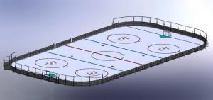 хокейная площадка, трибуна