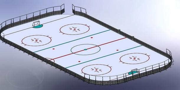 хоккейная площадка, трибуна, олимпийский резерв