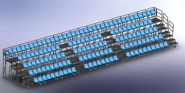 Сборка телескопической трибуны на 148 мест(разложенная)_2