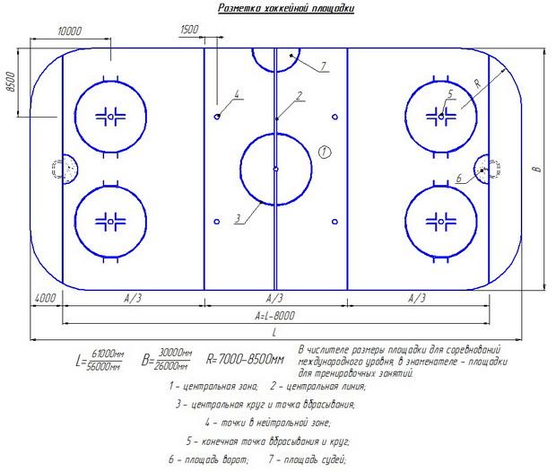 Схема хоккейной площадки