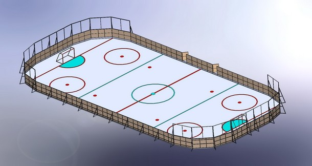 Сборка хок. поля 30х15